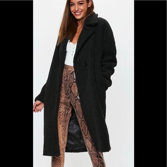 new authentic buy cheap most popular Missguided Jackets & Coats   Black Chunky Borg Teddy Coat   Poshmark